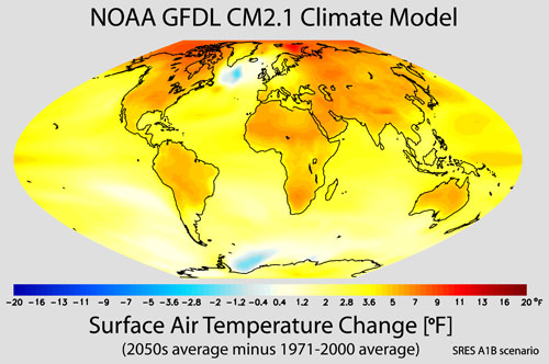 Climate model by NOAA - large