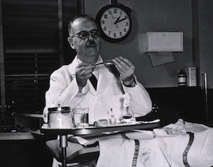 Houssay in the lab
